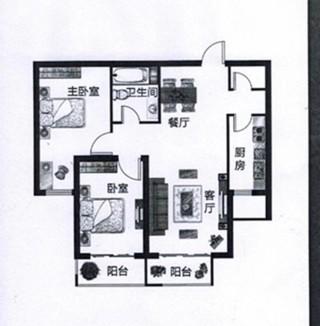 (西部)怡馨小区2室2厅1卫106m²毛坯房