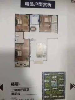 单价6500一平。经典小三居。首付25万。锦城苑2室2厅2卫