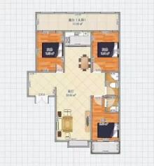 (北部)盛东广场小区3室2厅2卫126.33m²