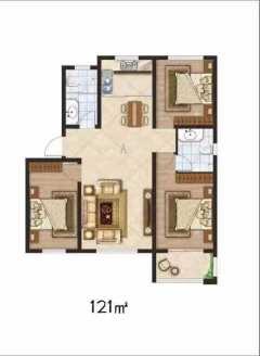 天成A区3室2厅1卫。低首付。首付按工程进度交款分期。