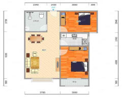 宝塔花园高层2居室带电梯家具家电齐全可随时看房