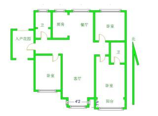 领秀城 7500一平 小高层 送入户花园 房本满5 看房方便